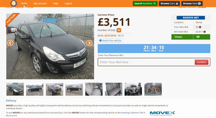 Online Car Auctions >> Auction4cars Motorpoint Px Online Car Auction For Trade
